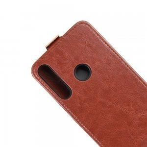 Флип чехол книжка вертикальная для Huawei P40 lite E - Коричневый