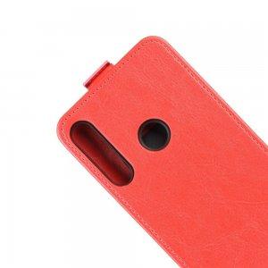 Флип чехол книжка вертикальная для Huawei P40 lite E - Красный