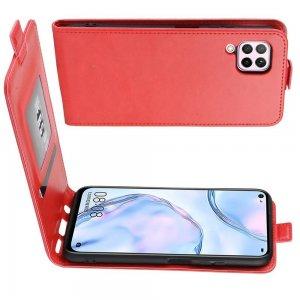 Флип чехол книжка вертикальная для Huawei P40 Lite - Красный