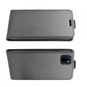 Флип чехол книжка вертикальная для Huawei Y5p / Honor 9S - Черный