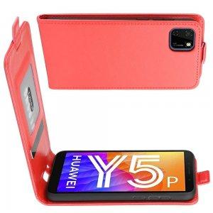 Флип чехол книжка вертикальная для Huawei Y5p / Honor 9S - Красный