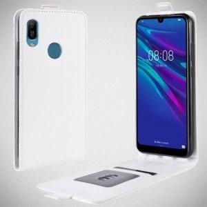 Флип чехол книжка вертикальная для Huawei Y6 2019 / Y6s - Белый