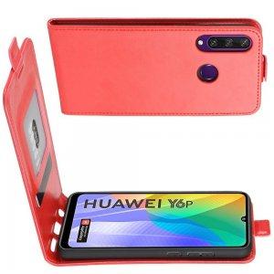 Флип чехол книжка вертикальная для Huawei Y6p - Красный