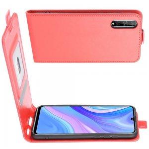 Флип чехол книжка вертикальная для Huawei Y8p - Красный