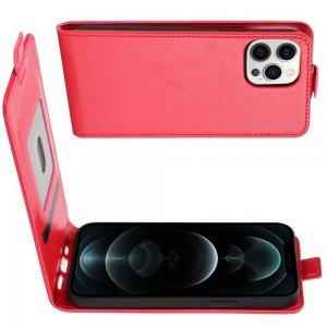 Флип чехол книжка вертикальная для iPhone 12 Pro Max - Красный