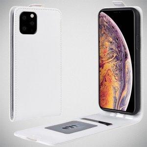 Флип чехол книжка вертикальная для iPhone 11 Pro Max - Белый