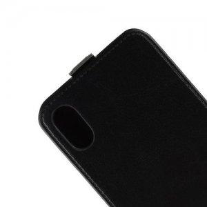Флип чехол книжка вертикальная для iPhone XS Max - Черный