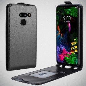 Флип чехол книжка вертикальная для LG G8 ThinQ - Черный