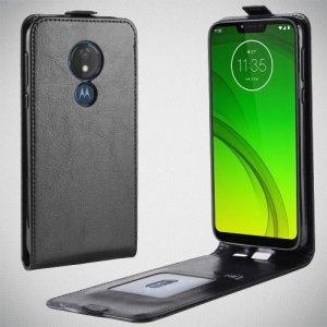 Флип чехол книжка вертикальная для Motorola Moto G7 Power - Черный