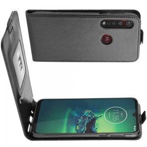 Флип чехол книжка вертикальная для Motorola Moto G8 Plus - Черный