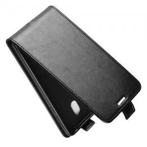 Флип чехол книжка вертикальная для Nokia 1 Plus - Черный