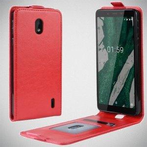 Флип чехол книжка вертикальная для Nokia 1 Plus - Красный