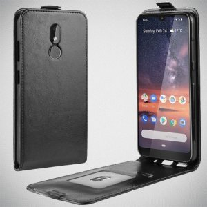 Флип чехол книжка вертикальная для Nokia 3.2 - Черный