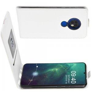 Флип чехол книжка вертикальная для Nokia 6.2 / 7.2 - Белый