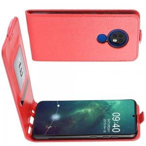 Флип чехол книжка вертикальная для Nokia 6.2 / 7.2 - Красный