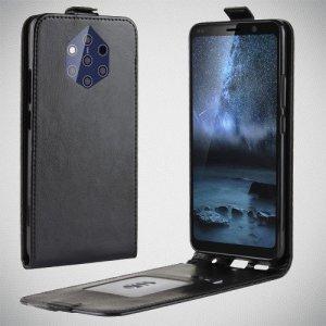 Флип чехол книжка вертикальная для Nokia 9 PureView - Черный