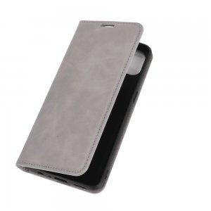 Флип чехол книжка вертикальная для OPPO Reno 4 Lite - Серый
