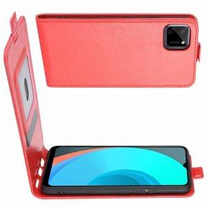 Флип чехол книжка вертикальная для Realme C11 - Красный