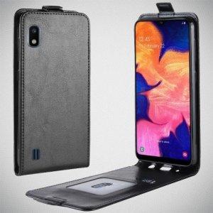 Флип чехол книжка вертикальная для Samsung Galaxy A10 - Черный