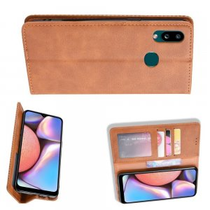 Флип чехол книжка вертикальная для Samsung Galaxy A10s - Коричневый