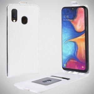 Флип чехол книжка вертикальная для Samsung Galaxy A20e - Белый