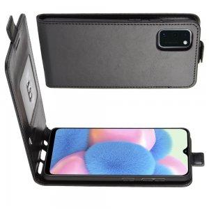 Флип чехол книжка вертикальная для Samsung Galaxy A41 - Черный