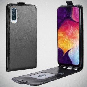 Флип чехол книжка вертикальная для Samsung Galaxy A50 / A30s - Черный