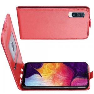 Флип чехол книжка вертикальная для Samsung Galaxy A50 / A30s - Красный