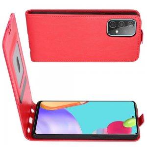 Флип чехол книжка вертикальная для Samsung Galaxy A52 - Красный