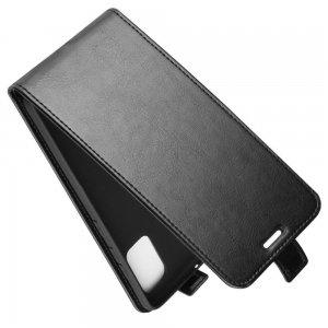 Флип чехол книжка вертикальная для Samsung Galaxy A71 - Черный