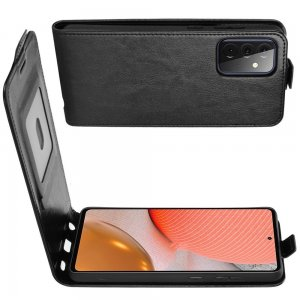 Флип чехол книжка вертикальная для Samsung Galaxy A72 - Черный