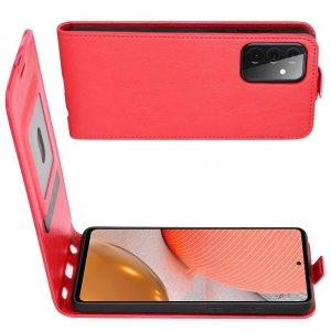Флип чехол книжка вертикальная для Samsung Galaxy A72 - Красный