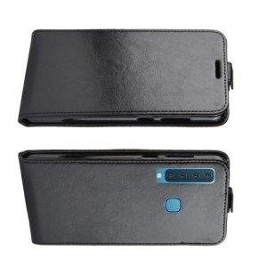 Флип чехол книжка вертикальная для Samsung Galaxy A9 2018 SM-A920F - Черный