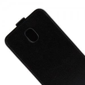 Флип чехол книжка вертикальная для Samsung Galaxy J3 2018 - Черный