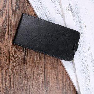 Флип чехол книжка вертикальная для Samsung Galaxy J4 2018 SM-J400F - Черный