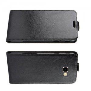 Флип чехол книжка вертикальная для Samsung Galaxy J4 Plus - Черный