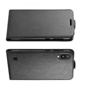 Флип чехол книжка вертикальная для Samsung Galaxy M10 - Черный