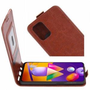 Флип чехол книжка вертикальная для Samsung Galaxy M31s - Коричневый