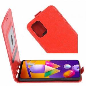 Флип чехол книжка вертикальная для Samsung Galaxy M31s - Красный