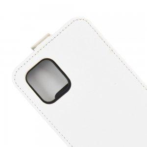 Флип чехол книжка вертикальная для Samsung Galaxy Note 10 Lite - Белый