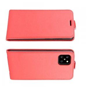 Флип чехол книжка вертикальная для Samsung Galaxy Note 10 Lite - Красный