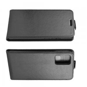 Флип чехол книжка вертикальная для Samsung Galaxy Note 20 - Черный