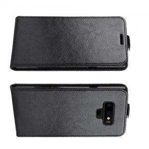 Флип чехол книжка вертикальная для Samsung Galaxy Note 9 - Черный