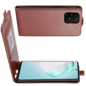 Флип чехол книжка вертикальная для Samsung Galaxy S10 Lite - Коричневый
