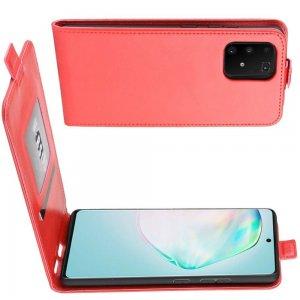 Флип чехол книжка вертикальная для Samsung Galaxy S10 Lite - Красный