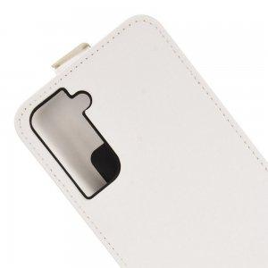 Флип чехол книжка вертикальная для Samsung Galaxy S21 - Белый