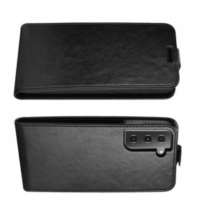 Флип чехол книжка вертикальная для Samsung Galaxy S21 - Черный
