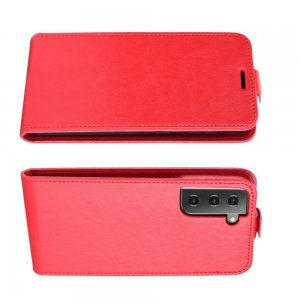 Флип чехол книжка вертикальная для Samsung Galaxy S21 - Красный