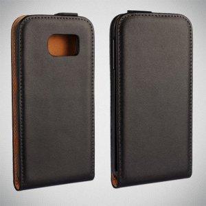 Флип чехол книжка вертикальная для Samsung Galaxy S6 - Черный
