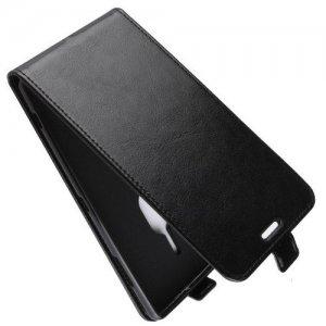 Флип чехол книжка вертикальная для Sony Xperia XZ2 Premium - Черный